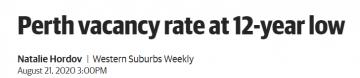房产市场供不应求!珀斯的住宅租赁空置率处